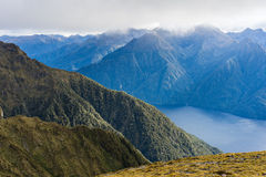 Mountain and lake landscape of Kepler Track Royalty Free Stock Photos