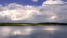 Mountain lake. Landscape nature horizontal, after storm Stock Image