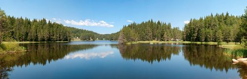 Mountain lake, landscape panorama Royalty Free Stock Photography