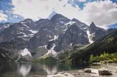 Mountain lake landscape in Poland stock photos