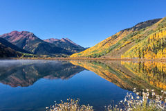 Mountain Lake Landscape Reflection in Autumn Royalty Free Stock Photo