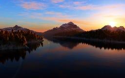 Mountain lake landscape Royalty Free Stock Image