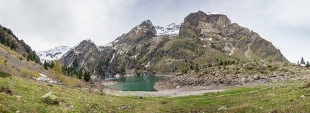 Mountain lake Le Lauvitel Royalty Free Stock Photo