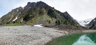 Mountain lake Le Lauvitel Stock Photos