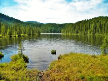 Sayan, Kitorm, Russia, Mountain lake, located in North Sayan in Russia. Magnificent unforgettable landscape Royalty Free Stock Image