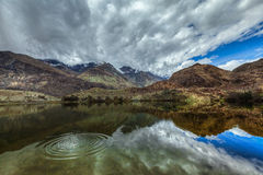 Mountain lake Lohan Tso in Himalayas Royalty Free Stock Photo