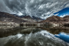 Mountain lake Lohan Tso in Himalayas Stock Image
