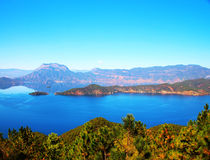 Mountain lake, Lugu Lake Royalty Free Stock Photography