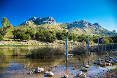 Mountain lake in Mallorca Stock Photos