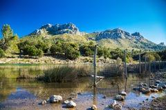Mountain lake in Mallorca Stock Photos