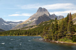 Mountain Lake, Many Glacier, Glacier National Park Royalty Free Stock Photography