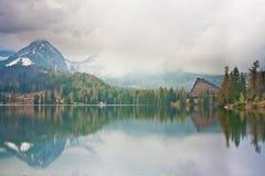 Mountain Lake Mist royalty free stock photos