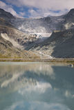 Mountain lake Moiry in the Valais Stock Image