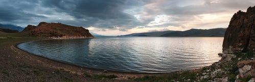 Mountain lake in Mongolia Stock Photo