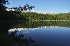 Mountain lake in the morning Royalty Free Stock Photo
