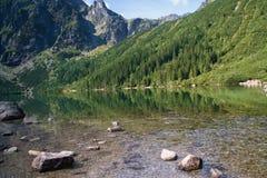 Mountain lake Morskie Oko Stock Photo