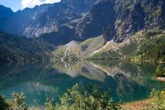 Mountain lake Morskie Oko Royalty Free Stock Images