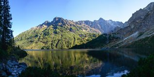 Mountain lake Morskie Oko in Tatra National Park, Poland. Picturesque lake in the mountains landscape Royalty Free Stock Images