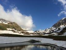 Mountain lake. Mountain landscape. Mountain range view from Caucasus. Mountain lake. Mountain landscape Stock Photography