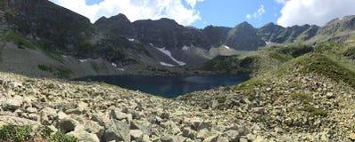 Mountain lake. Mountain landscape. Mountain range view from Caucasus. Mountain river. Mountain landscape Stock Photography