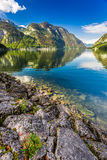 Mountain lake with mountain views Royalty Free Stock Image