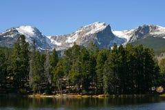 Mountain Lake with mountains Stock Photos