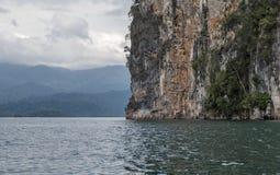 Mountain lake. The mountains around the reservoir Khao sok. Thailand Stock Photo