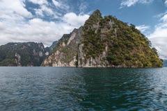 Mountain lake. The mountains around the reservoir Khao sok. Thailand Royalty Free Stock Photo