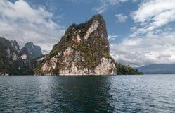 Mountain lake. The mountains around the reservoir Khao sok. Thailand Stock Image