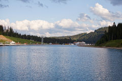 Mountain lake in the mountains of the Carpathians Stock Photography