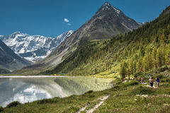 Mountain Lake. Mountains reflected in the lake Royalty Free Stock Photography
