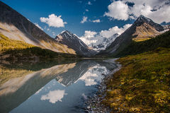 Mountain Lake. Mountains reflected in the lake Stock Photography