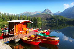 Mountain lake in National Park High Tatra Stock Images