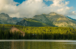 Mountain lake in National Park High Tatra, Slovakia Stock Images
