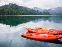 Mountain lake in national park. On south of Thailand Stock Photos