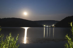 Mountain lake at night (Slovakia) Stock Photography