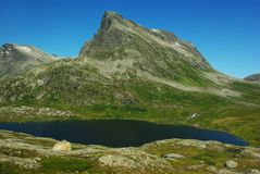 Mountain lake in Norway Stock Images