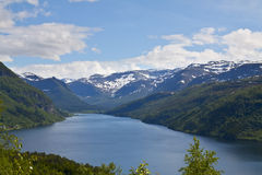 Mountain lake in Norway Stock Photography