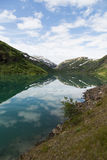 Mountain lake in Norway. An impressive view to a mountain lake in Norway Royalty Free Stock Image