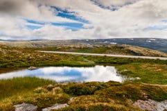 Mountain lake in Norway Royalty Free Stock Photos