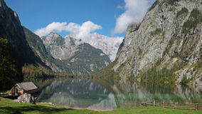 Mountain Lake Obersee, Bavaria. Royalty Free Stock Image