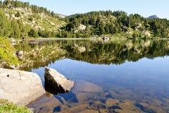 Mountain lake, Orientales, France. Mountain lake in Pyrenees at summer Royalty Free Stock Photos
