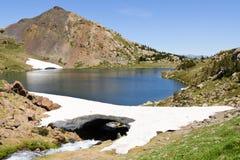 Mountain lake, Orientales, France. Mountain lake in Pyrenees at summer Stock Photos