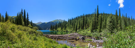 Mountain lake panorama Royalty Free Stock Image