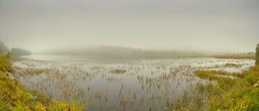 Mountain Lake Panorama Stock Images