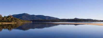 Mountain Lake Panorama Stock Image