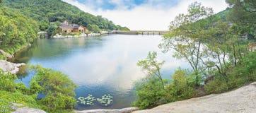 Mountain lake park stock images