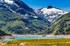 Mountain lake. Part view of mountain lake in Austria Alps Stock Photo
