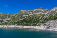 Mountain lake. Part  view of mountain lake in Austria Alps Stock Image