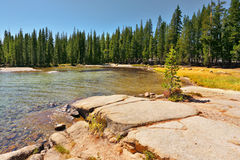 The mountain lake on pass Tioga Stock Image